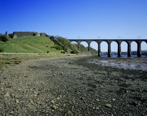 Berwick Castle and Royal Border Bridge (c) English Heritage Photo Library. With the town cut off and occupied by the Scots, the only viable means of replenishing supplies for the English garrison at the castle was by sea.