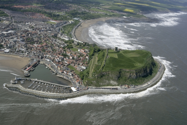 Scarborough Castle from the air