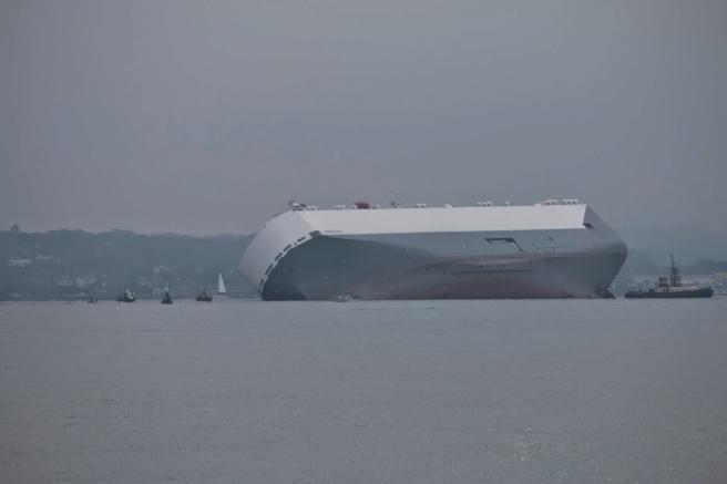 Hoegh Osaka aground on the Bramble Bank: Maritime and Coastguard Agency