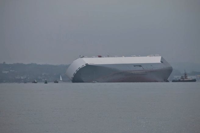 Hoegh Osaka aground on the Bramble Bank: Maritime and Coastguard Agency