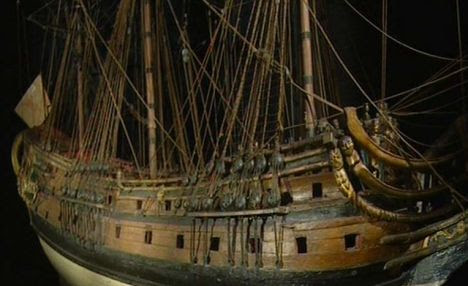 CGI reconstruction of the London, showing her gun decks and masts